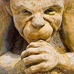 Stone gargoyle sculpture
