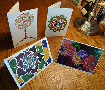 Julie's art cards