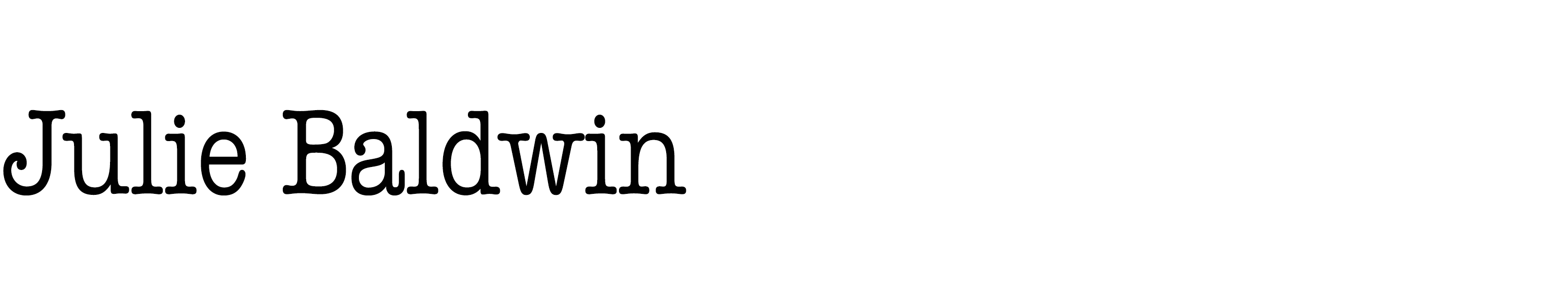 Julie Baldwin Logo